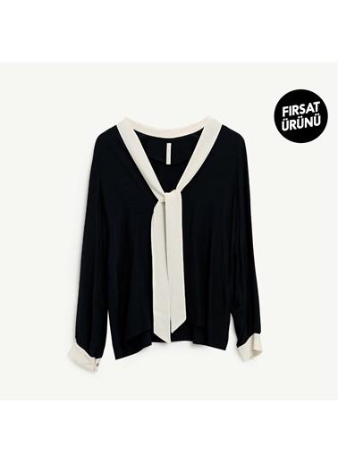 Yargıcı Kadın Fular Detayli Gömlek 9KKGM6127X059 Antrasit